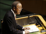 UN chief urges hope in world seeming to fall apart