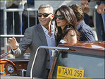 Photos: Clooney, fiancee arrive in Venice for wedding
