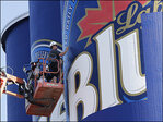 New York grain silos being turned into huge beer ad