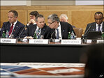 Top finance officials grapple with weak growth
