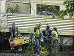 5 critically hurt after trains collide in Arkansas