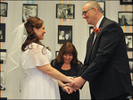 Michigan couple marry after losing 380 pounds
