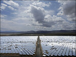 Giant solar plant lags in early production