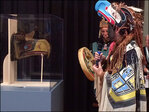 Ancient mask that inspired the original Seahawks logo unveiled at Seattle's Burke Museum