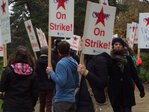 Grad student union on strike over paid leave