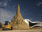 Heavy machinery needed to build world's tallest sand castle