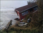 More homes eaten by raging Pacific Ocean at Washaway Beach