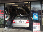 Car crashes into hair salon