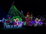 Thousands flock to Peacock Lane for Christmas light show