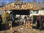 Resident defies deadline to remove 'Zombie Nativity'