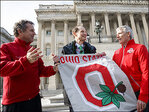 Senators settle wager after Ohio State wins championship