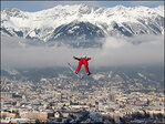 Photos: Competitive ski jumpers take flight