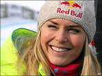 Lindsey Vonn gets World Cup record and surprise visit