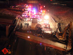 One dead, one hurt as Ohio overpass collapses