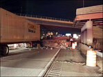 1 killed, 1 injured as overpass collapses on Ohio freeway