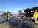 Load of frozen chicken barbecued by fiery big-rig crash