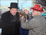 Ouch!! Weather-predicting groundhog turns on Wis. mayor