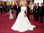 High collars and demure gowns highlight Oscars