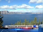 Crater Lake sees record-low snow levels