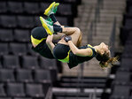 Ducks win final home acrobatics meet