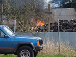 Two fires Thursday at property state calls an illegal tire dump
