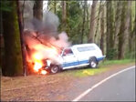 Driver stops to help man inside burning truck