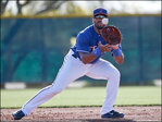 Seahawks' Russell Wilson suits up for Rangers baseball practice