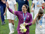 Solo in 'happier place' for US women's soccer team