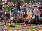 Kids cry, parents push as Easter egg hunt turns rowdy