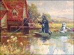 Artist uses Darth Vader, others to give new life to thrift store paintings