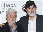 George Lucas to Colbert: Why aren't you replacing Stewart?
