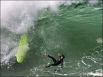 Huge waves in California lure surfers, crowds to beaches
