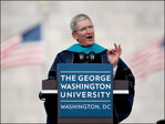 Apple CEO tells George Washington U. grads to live by values