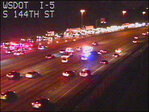 Driver runs from crash on I-5 near SeaTac, gets hit by car