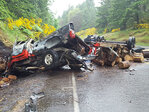 1 dead, 2 seriously injured in head-on crash on Hwy 58