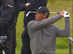 Tiger plays early U.S. Open practice round at Chambers Bay