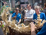 Ton of ivory crushed in Times Square to highlight poaching