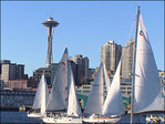 Photos: Sailing in Elliott Bay on a sunny Seattle day