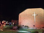 Black church in South Carolina on fire; cause not yet known