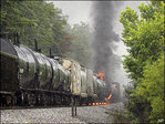 Thousands evacuated in Tennessee after train derailment, fire