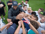 Photos: Seahawk Russell Wilson hosts kids camp in B.C.