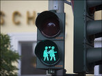 Photos: Hamburg unveils pics of same-sex couples on traffic lights