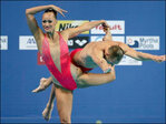 Americans win mixed duet synchro at worlds in Russia