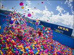 Photos: Ikea holds massive ball-pit party for adults