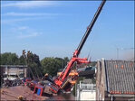 Cranes fall on homes in Netherlands, 1 survivor rescued