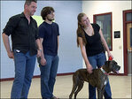 Family reunites with Boozer the dog, missing for 9 years
