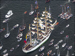 Photos: Picturesque tall ships hoist sail in Amsterdam harbor
