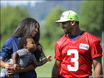 Sparks, expletives fly after Russell Wilson spotted with Ciara's son