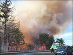 Brush fire forces Cascade Locks evacuations, burns two outbuildings