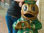 Duck Downtown Friday, check out sculptures Saturday